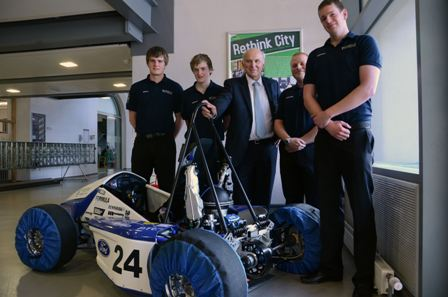 Vince Cable with Formula Students
