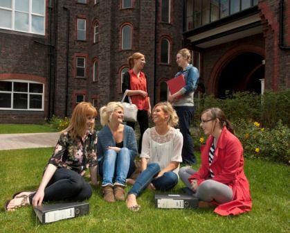 students at quad