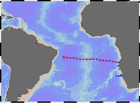 Significant Levels Of Iron Found In South Atlantic Ocean News - Oceanographic map
