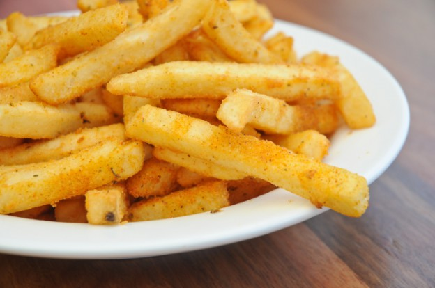 Close up of a plate of chips