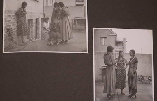 Many of the images feature family members in natural poses, clearly relaxed around photographer, Hanns Weltzel