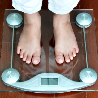 Child on weighing scales