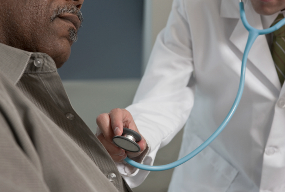 Patient having a health check
