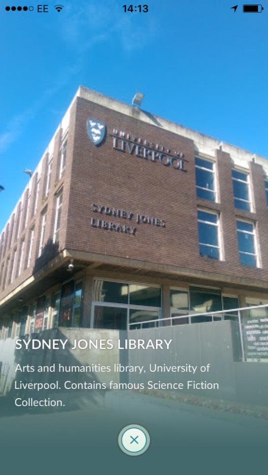 Sydney Jones Library seen in Pokémon GO