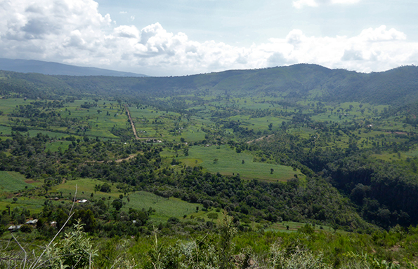 Kilombe Caldera and the head of the gorge