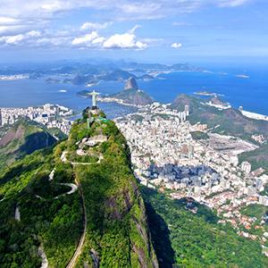 The Christ Redeemer overlooking Rio de Janeiro