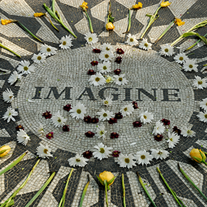 Memorial to John Lennon in Central park New York