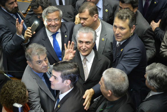 Temer: defender of Brazilian democracy? EPA/Cadu Gomes