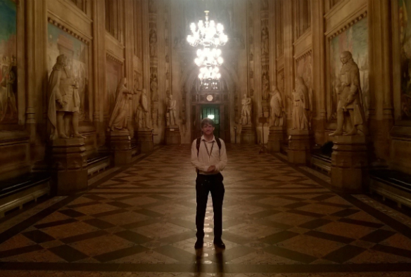 Jamie Alison in the Houses of Parliament
