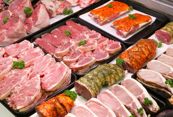 Supermarket meat counter