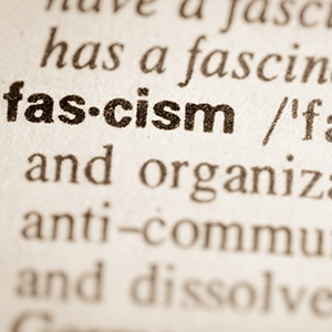 Dictionary definition of word fascism