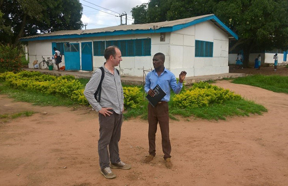 Dr Alex Balch (left) in Ghana