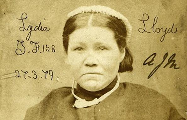 Lydia Lloyd was a prostitute, habitual drunk and thief, born 1843