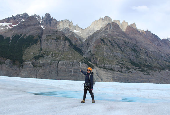 Photo taken on Glacier Grey, west of the Torres del Paine National Park