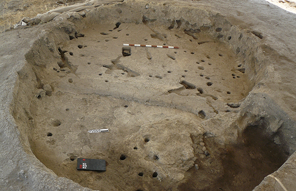 A Neolithic house uncovered during excavations in central Anatolia