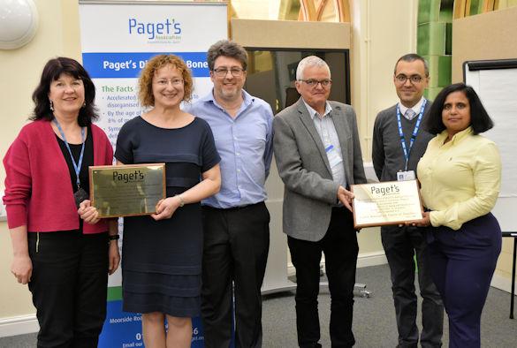 L-R Dr Eileen Marks, Dr Anna Daroszewska, Prof Rob van 't Hof, Prof Roger Francis, Dr Milad Khedr and Dr Vinita Mishra
