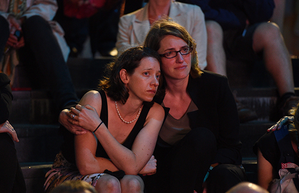 Hundreds gather for Sydney siege anniversary