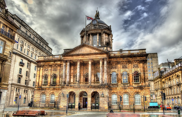 Town Hall of Liverpool - England, UK