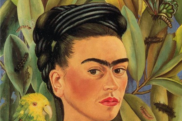 Frida Kahlo: self-portrait with Bonito. Irina via Flickr, CC BY-SA
