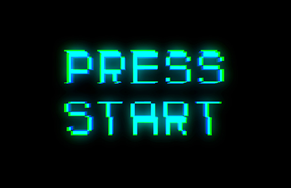 Press start text with bad signal