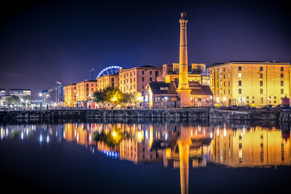 Liverpool Albert Docks at night