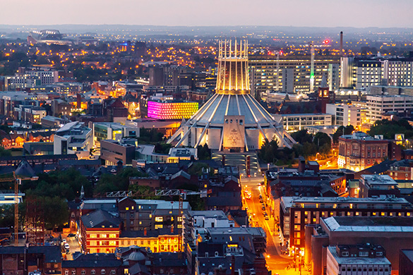 Liverpool skyline and Metropolitan cathedral