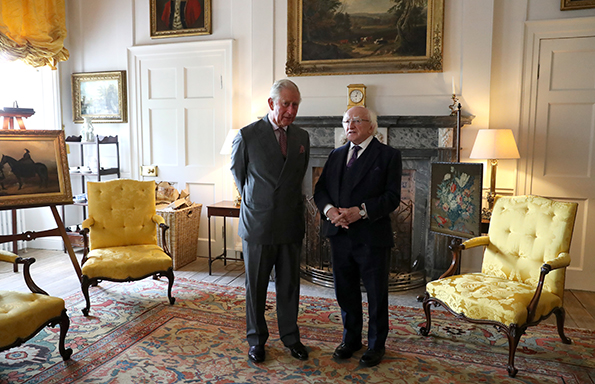 Prince of Wales welcomes President of Ireland