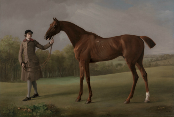 George Stubbs, Lustre with a Groom, 1762 Yale Centre for British Art