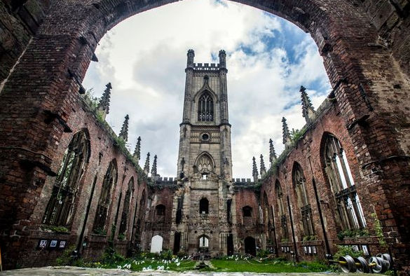 Bombed out church in Liverpool
