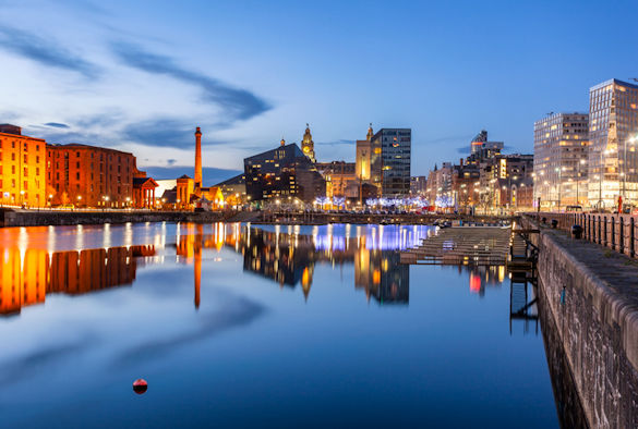 Liverpool Skyline from Docks