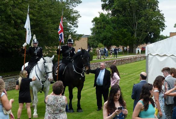 Police horses at graduation