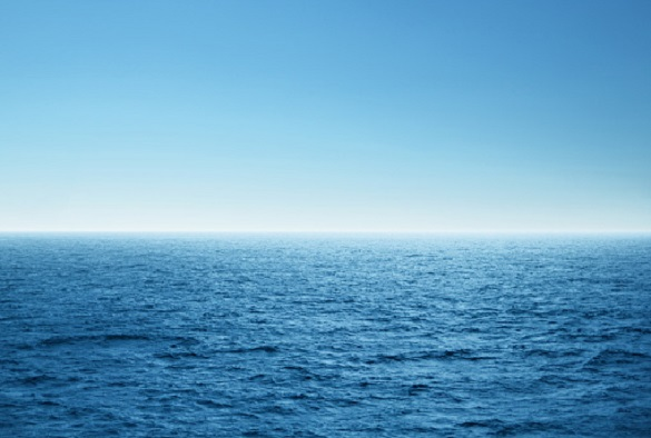 Blue open sea. Environment,travel and nature concept.