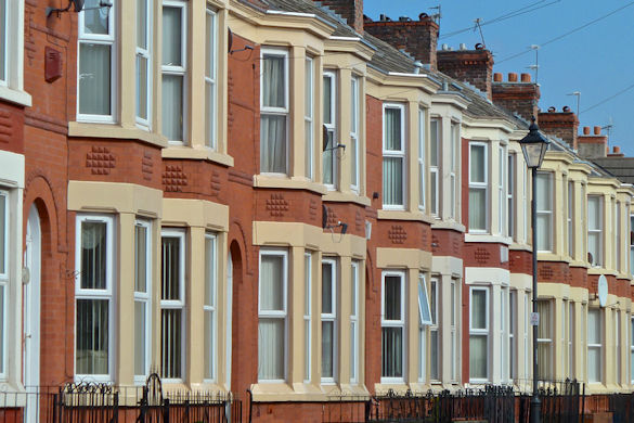 Liverpool terraced street