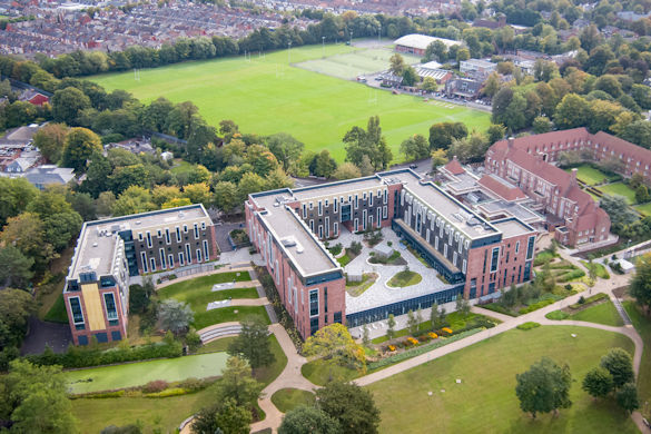 Greenbank student village aerial