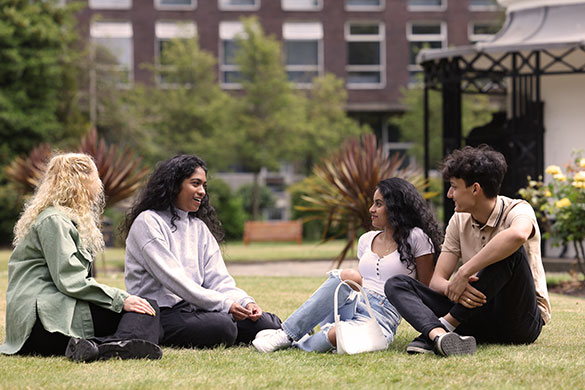 Students in Abercromby Square